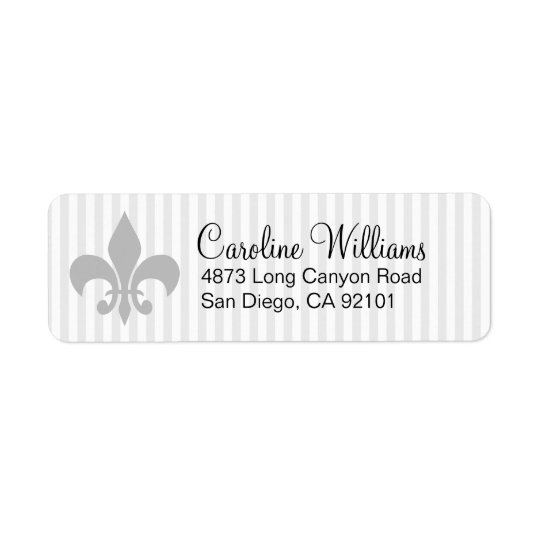 Deco Fleur De Lis Return Address Label