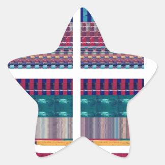 Deco Graphic Cutout Pattern Atom Science NVN690 fu Star Sticker