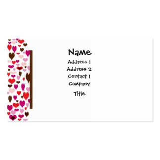 Deco Hearts Pack Of Standard Business Cards