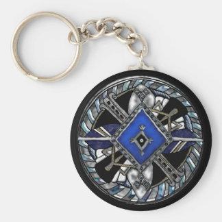 deco medallion keychains