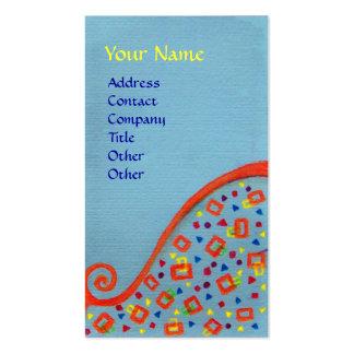 DECO MONOGRAM Orange blue Yellow Business Card
