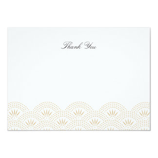 Deco Seigaiha Flat Thank You Note Card 11 Cm X 16 Cm Invitation Card
