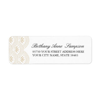 Deco Seigaiha Return Address Labels