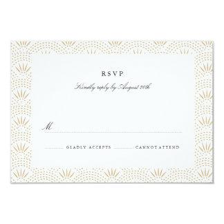 Deco Seigaiha Wedding RSVP 9 Cm X 13 Cm Invitation Card