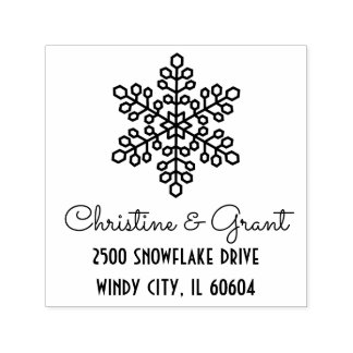 Deco Snowflake | Personalized Holiday Self-inking Stamp