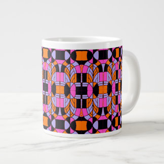 Deco Stained Glass Arches Jumbo Mug