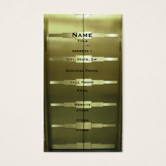 Deco Style Elevator Business Card