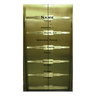 Deco Style Elevator Pack Of Standard Business Cards