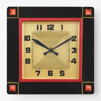 Deco Style Square Wall Clock