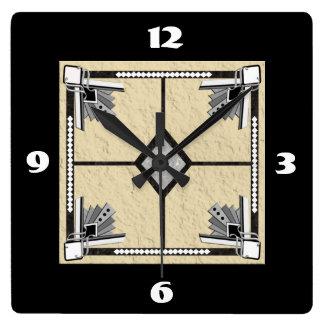 deco tile wall clocks