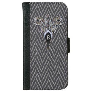 Deco Tweed  6/6s Personalized Monogram iPhone 6 Wallet Case
