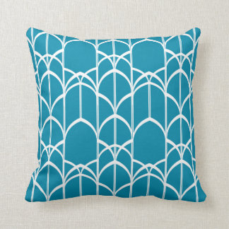 Deco Windows Pillow (Coral Blue)