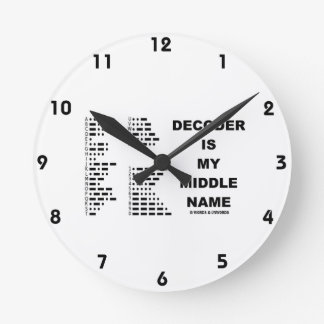 Decoder Is My Middle Name (Intl Morse Code) Clocks