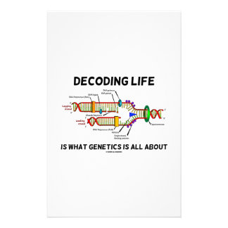 Decoding Life Is What Genetics Is All About Stationery Design