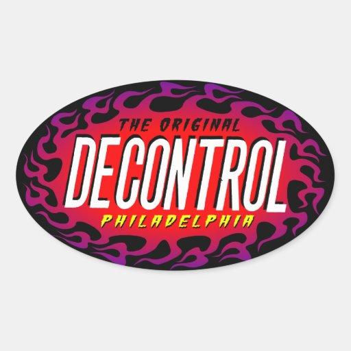 Decontrol oval Sticker