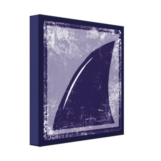 decor blue shark fin canvas print