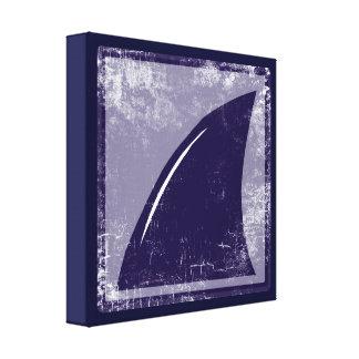decor blue shark fin gallery wrap canvas