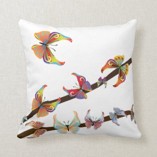 Decor Butterflies American MoJo Throw Pillow