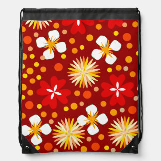 Decor Flower Drawstring Bag