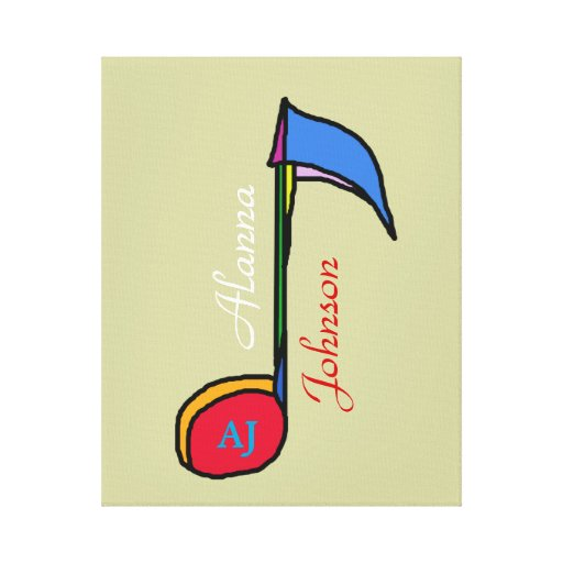 decor music note personalized gallery wrap canvas