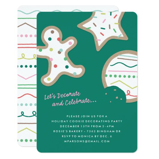 Decorate & Celebrate Party Invitation - Pine