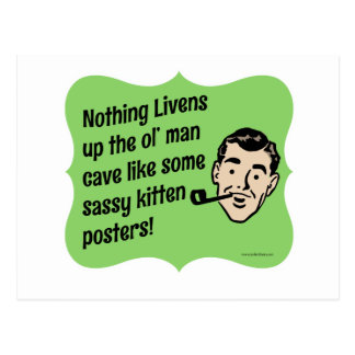 Decorate The Man Cave Snarky Guy Postcard