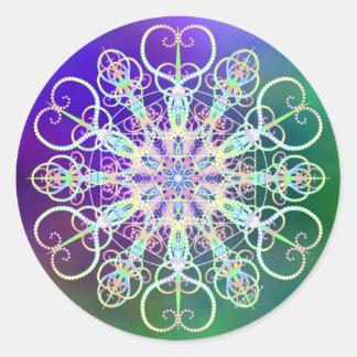 Decorate with Light Round Sticker