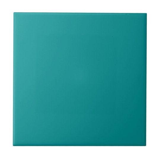 Decorate Your Home! Elegant Teal Plain Solid Tile