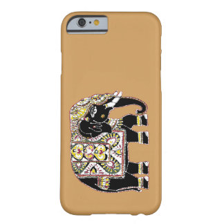 Decorated black elephant for luck barely there iPhone 6 case