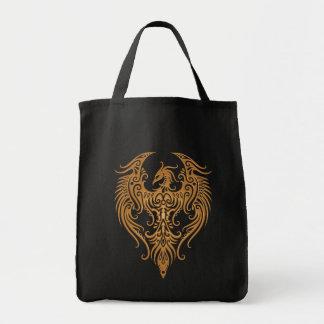 Decorated Brown Tribal Phoenix Tote Bag