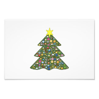 Decorated Christmas tree clipart Photo Art