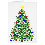 Decorated Christmas Tree Greeting Cards