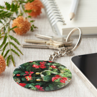 Decorated Christmas Tree Key Chain