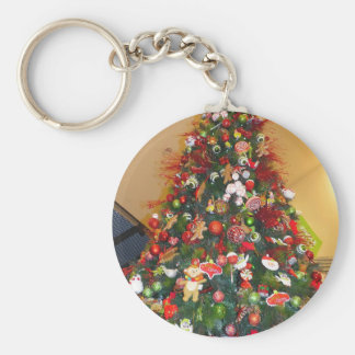 Decorated Christmas Tree Keychains