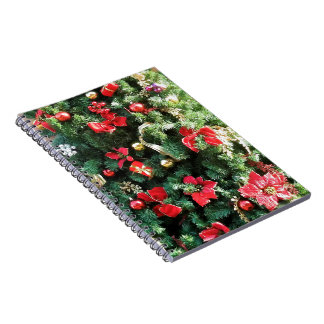Decorated Christmas Tree Note Book