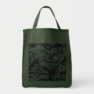 Decorated Christmas Tree Outside Bag