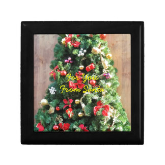 Decorated Christmas Tree Small Square Gift Box