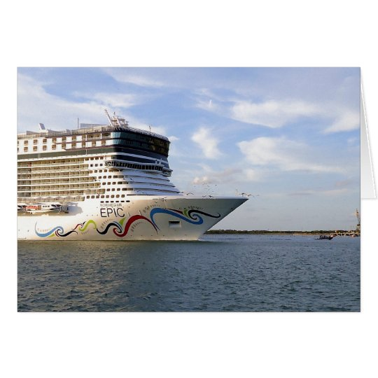 Decorated Cruise Ship Bow Blank Note Cards