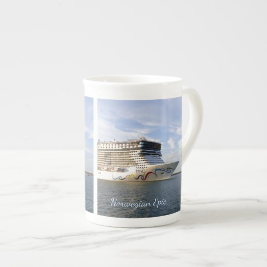 Decorated Cruise Ship Bow Custom Tea Cup