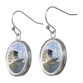 Decorated Cruise Ship Bow Earrings
