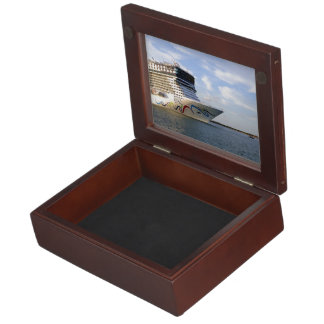 Decorated Cruise Ship Bow Keepsake Box