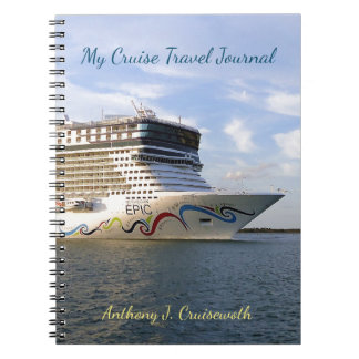 Decorated Cruise Ship Bow Personalized Journal Spiral Note Book