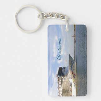Decorated Cruise Ship Bow Personalized Key Ring