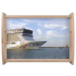 Decorated Cruise Ship Bow Serving Tray