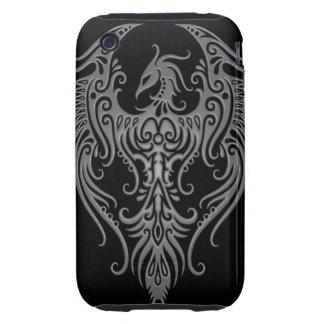 Decorated Dark Tribal Phoenix Tough iPhone 3 Covers