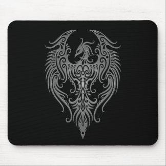 Decorated Dark Tribal Phoenix Mouse Mat