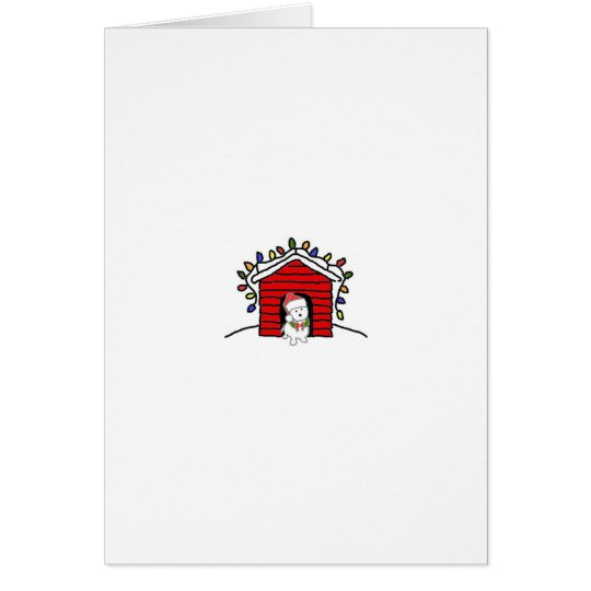 Decorated Dog House Card