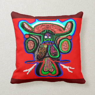 Decorated Drunk Cloudnine Bull Throw Pillow