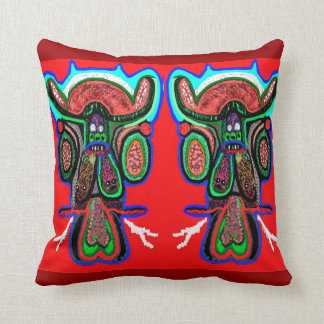 Decorated Drunk Cloudnine Double Bull Throw Pillow