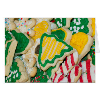 Decorated Frosted Homemade Christmas Sugar Cookies Greeting Card